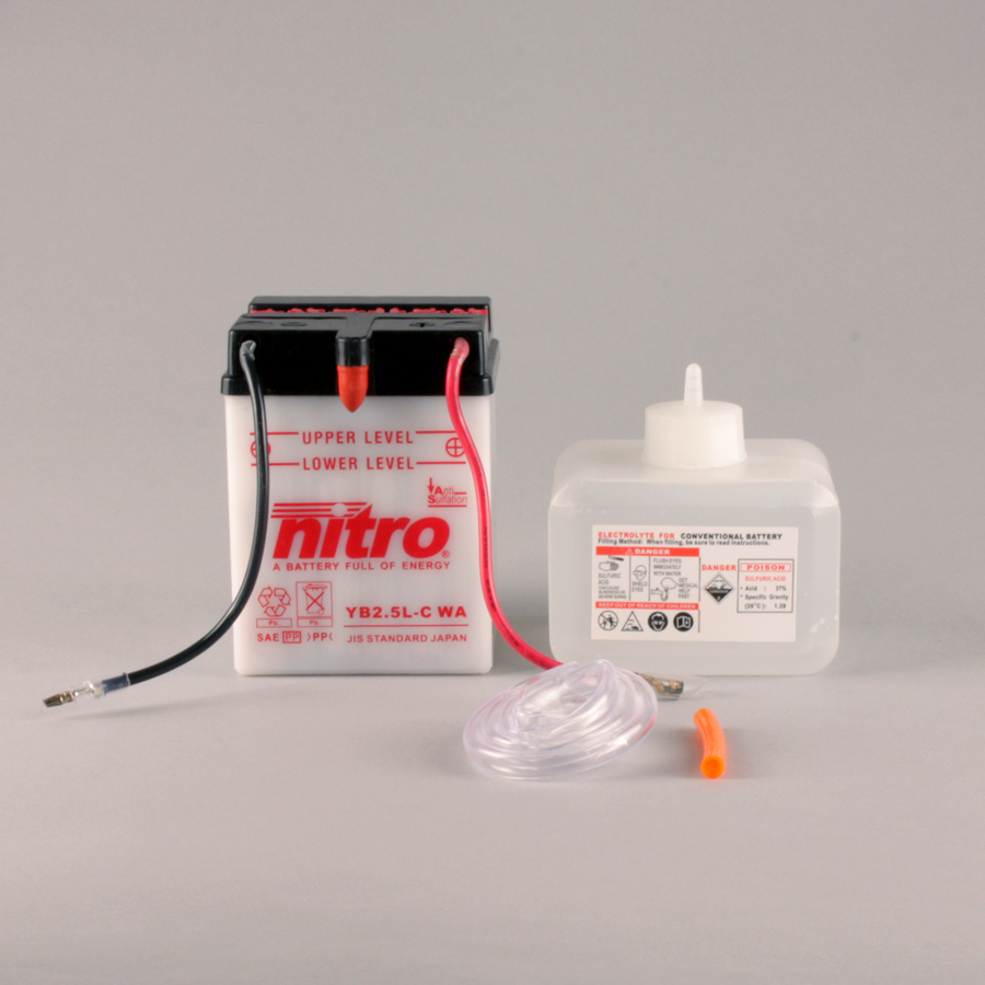 Batterie NITRO NB2.5L-C (CP) mit Säurepack