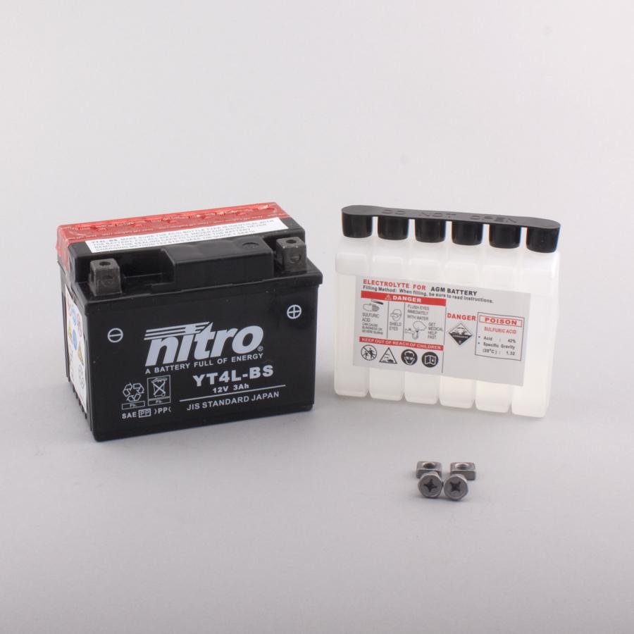 Batterie NITRO NT4L-BS (CP) mit Säurepack