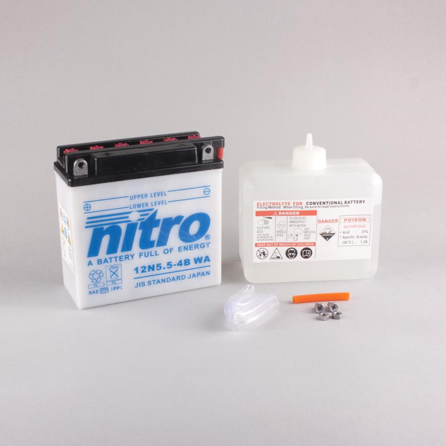 Batterie NITRO 12N5.5-4B (CP) mit Säurepack