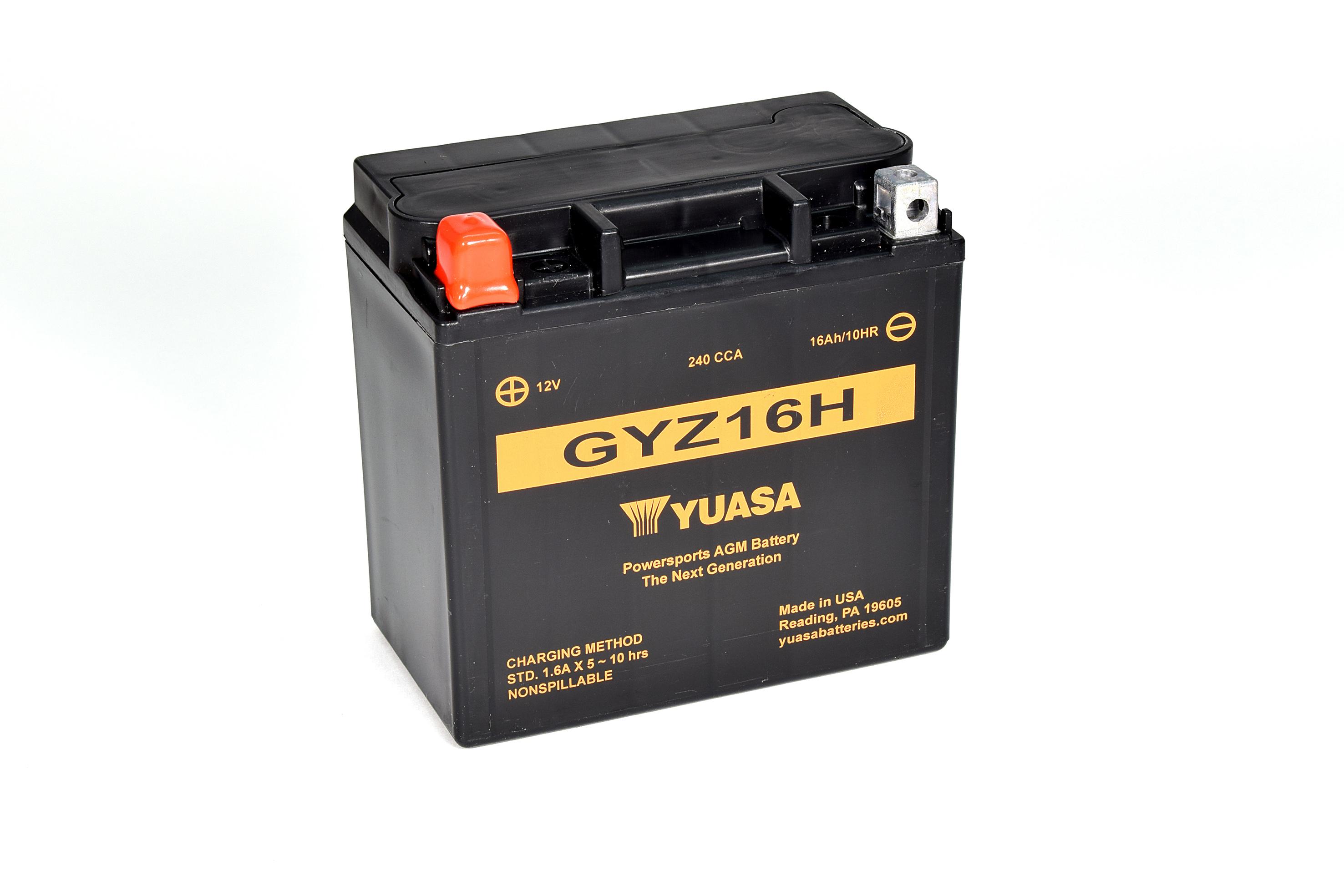 Batterie YUASA GYZ16H (WC) geschlossen