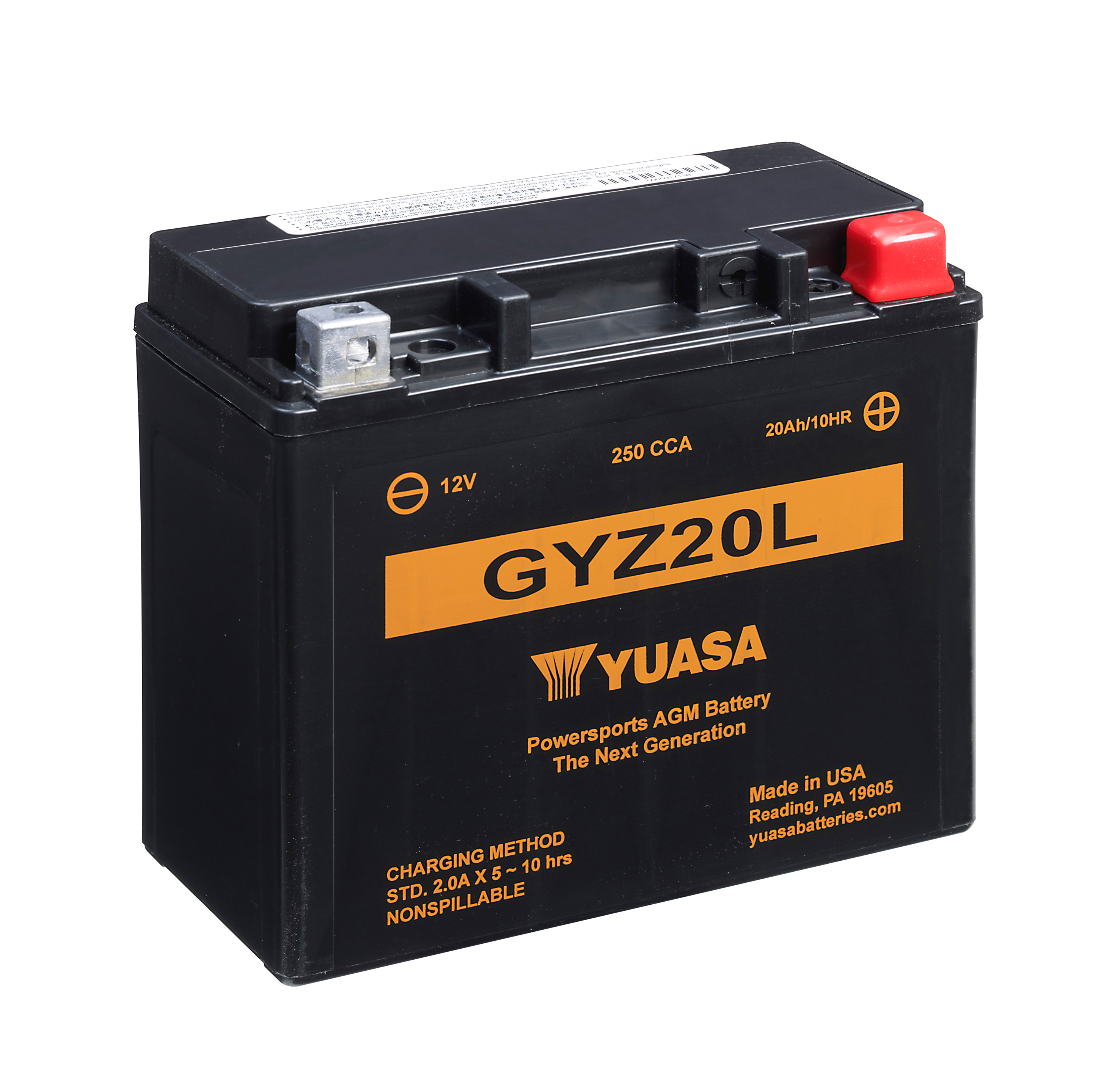 Batterie YUASA GYZ20L (WC) geschlossen