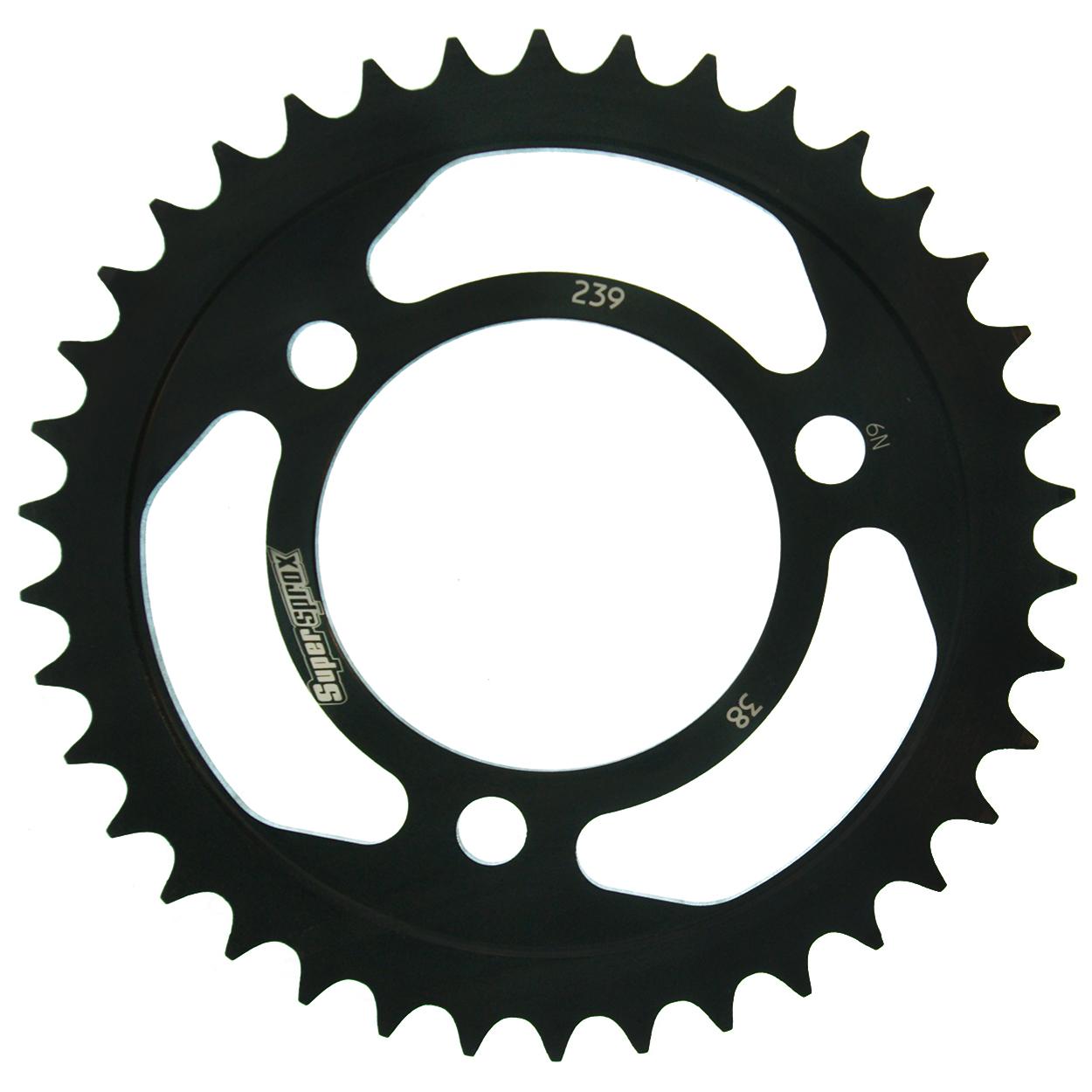 Stahl-Kettenrad Supersprox 420 - 38Z (schwarz)