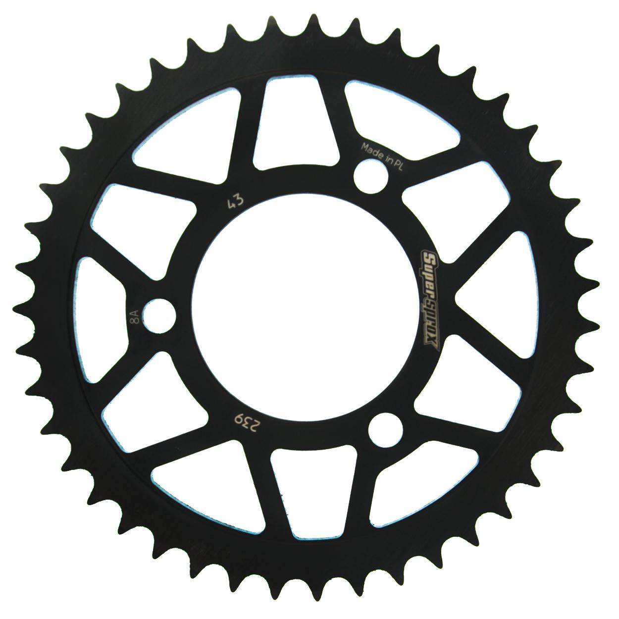 Stahl-Kettenrad Supersprox 420 - 43Z (schwarz)