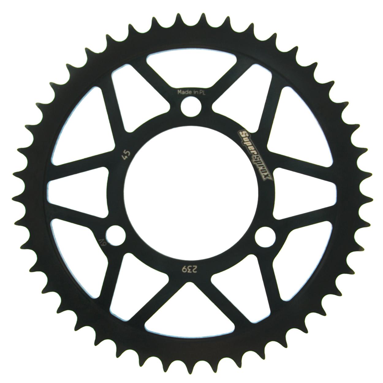 Stahl-Kettenrad Supersprox 420 - 45Z (schwarz)