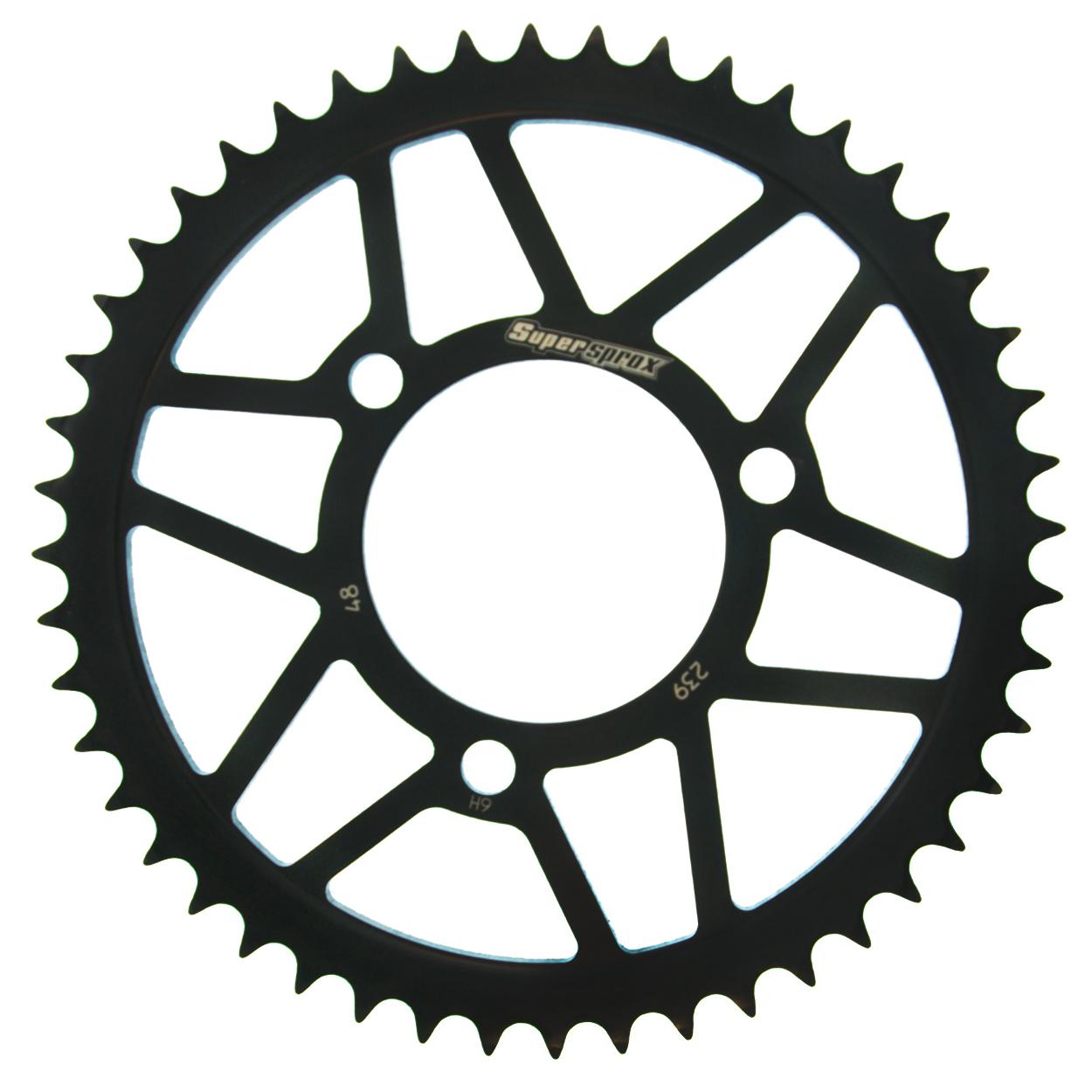 Stahl-Kettenrad Supersprox 420 - 48Z (schwarz)