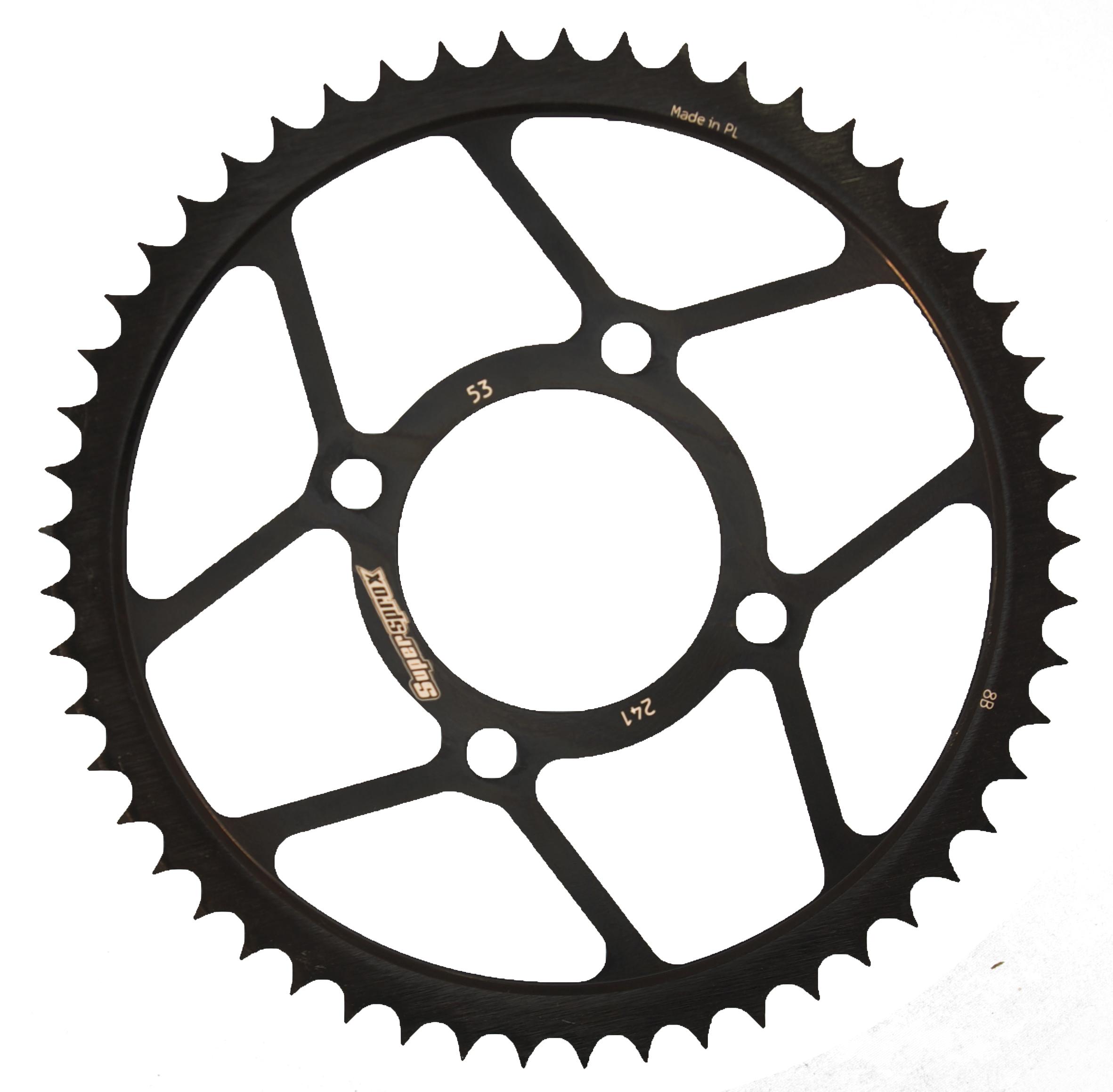 Stahl-Kettenrad Supersprox 428 - 53Z (schwarz)