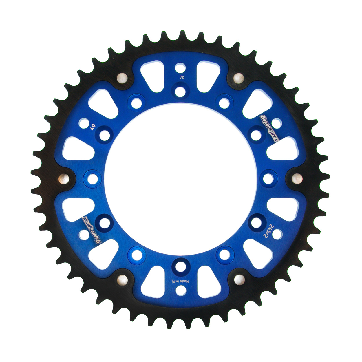 Stealth-Kettenrad Supersprox 520 - 49Z (blau)