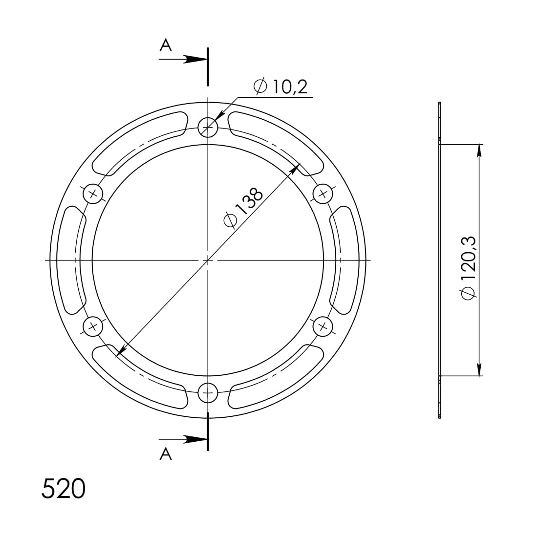 Edge-Disc Supersprox 520 - 38Z (rot)
