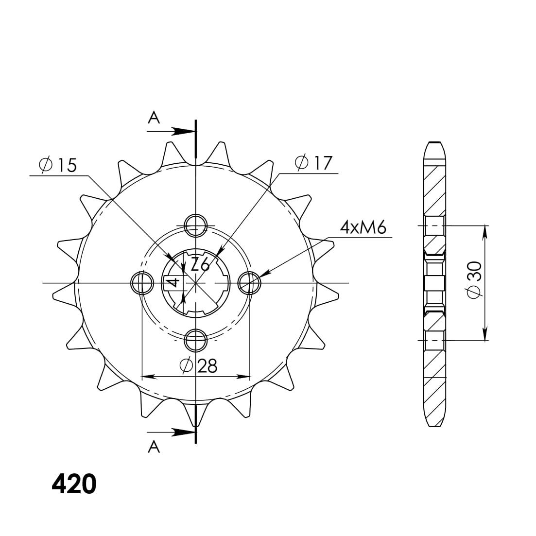 Ritzel Supersprox 420 - 17Z
