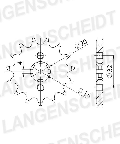 Ritzel Supersprox 428 - 14Z