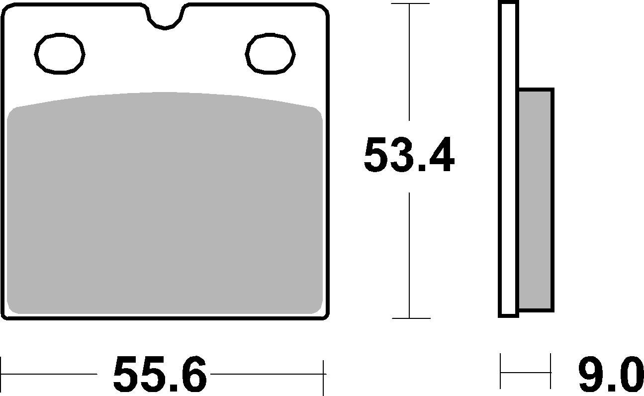 Bremsbelag SBS 506DS-2