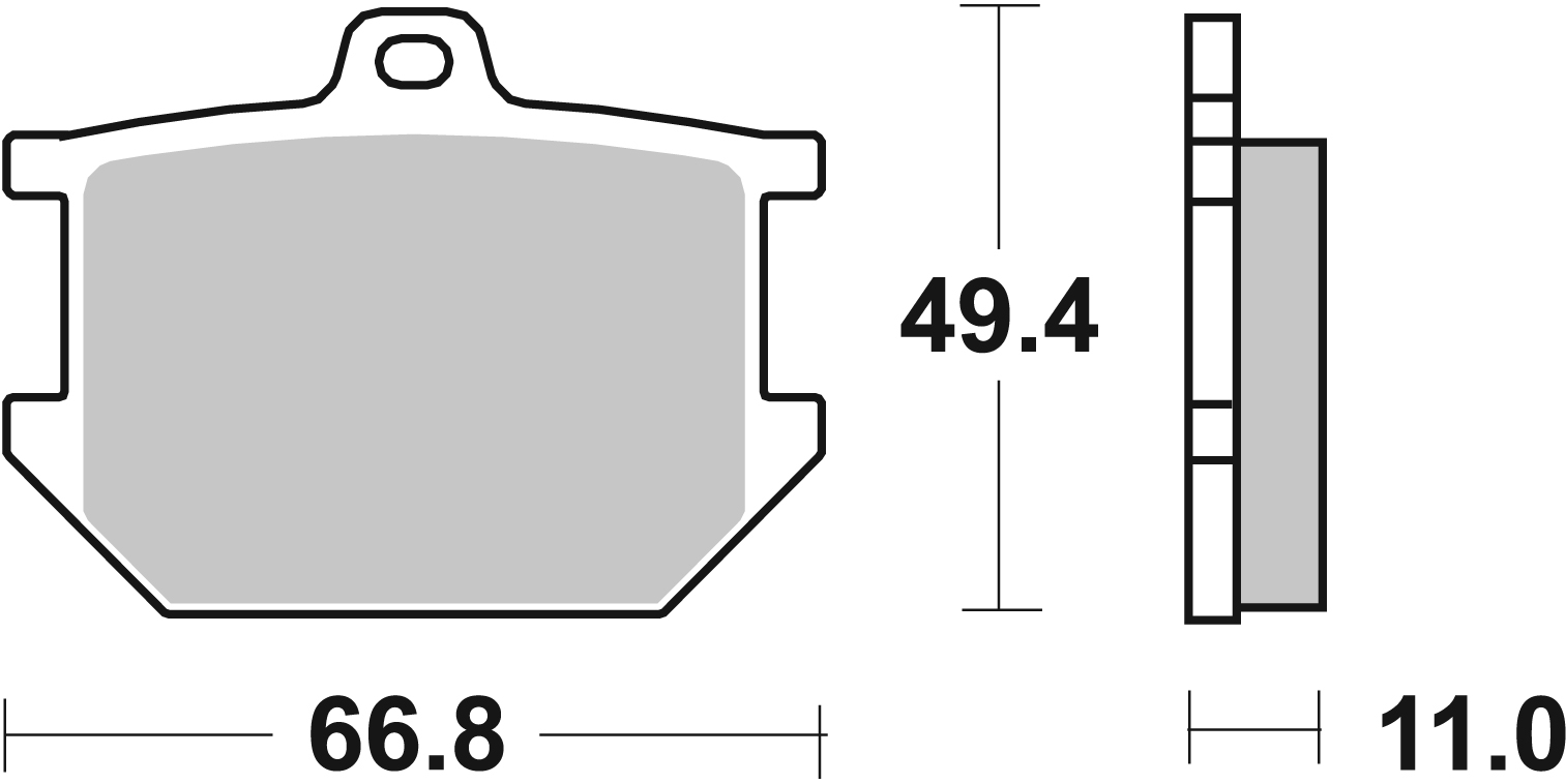 Bremsbelag SBS 507HF