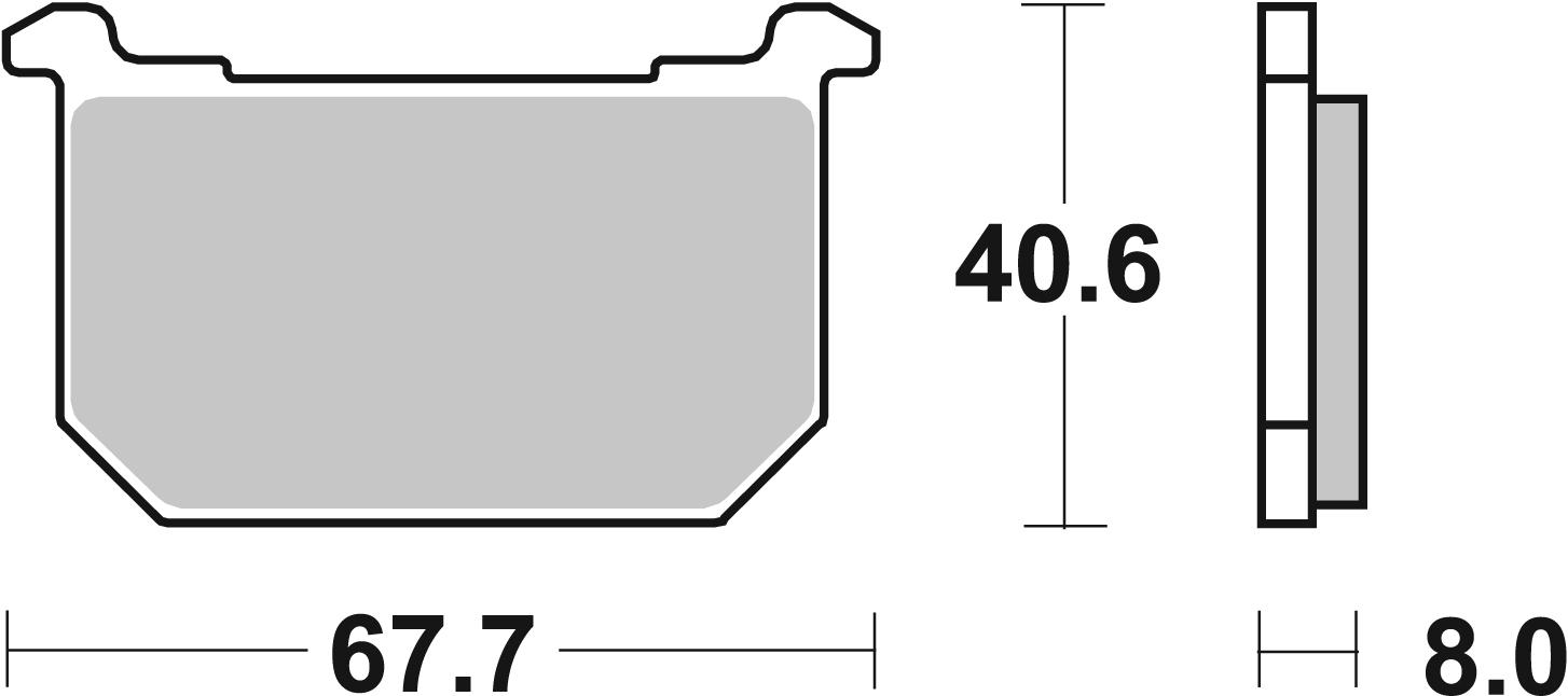 Bremsbelag SBS 539DCC