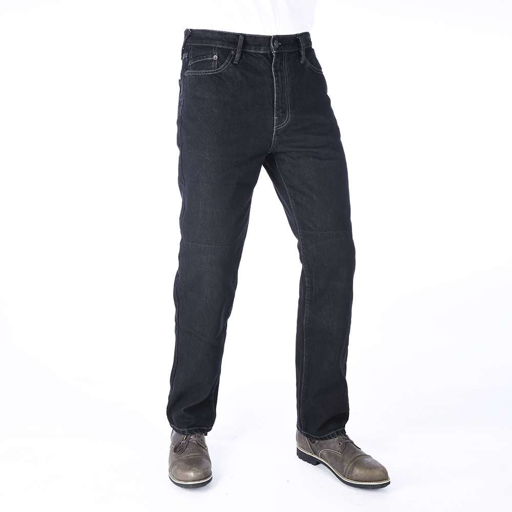 Jeans Straight Fit Schwarz lang 30